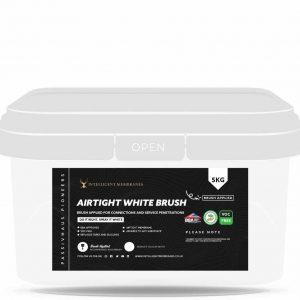 Airtight White brush applied flexible airtight membrane
