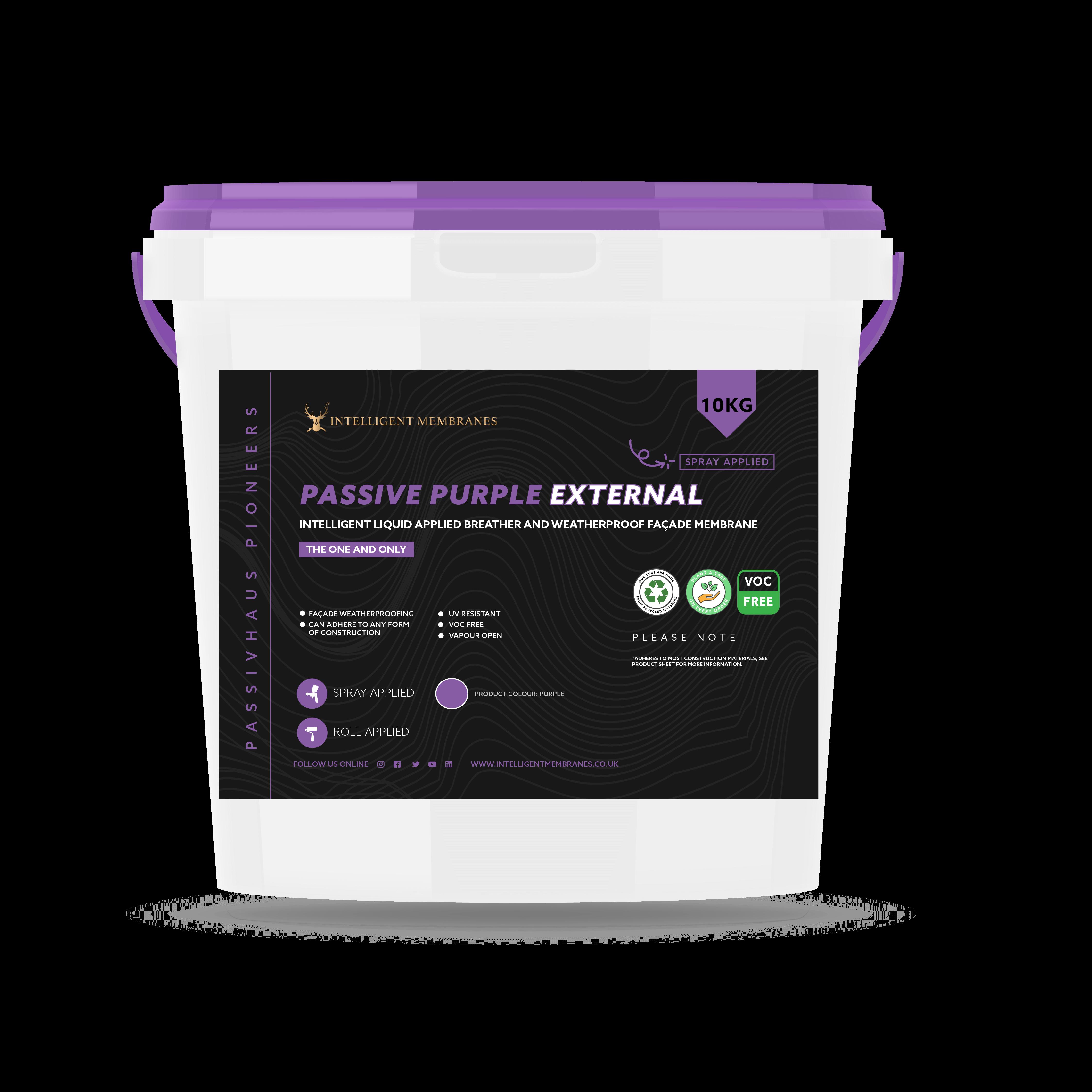 Passive Purple External - a facade waterproofing membrane