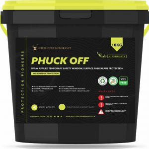 Phuck Off Yellow - Spray applied temporary safety surface protection